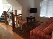 4A 2nd Floor Sitting Rm at Stairway with Queen Sleeper Sofa